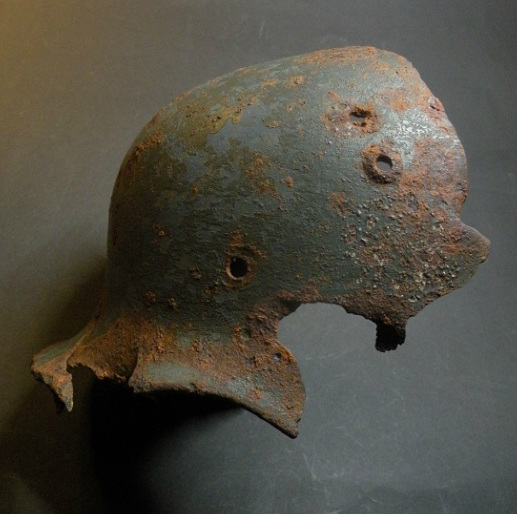 Hobbyhistorica german helmet found in stalingrad battlefield find ww2 metaldetecting