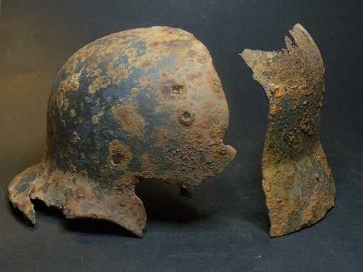 Hobbyhistorica german helmet found in stalingrad battlefield find ww2