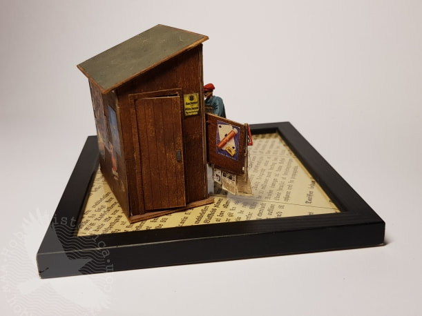 hobbyhistorica ww2 museum models miniatures world war two museum display art newspaper kiosk ww2 berlin plus model mk35 yngve sjødin